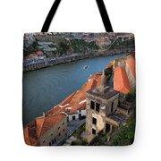 Vila Nova De Gaia And Porto In Portugal Tote Bag