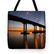 Vilano Bridge At Dusk St Augustine Florida Tote Bag