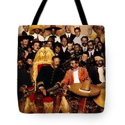 Villa And Zapata In The    National Palace In  Mexico City December 6 1914.  Tote Bag