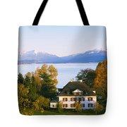 Villa At The Waterfront, Lake Zurich Tote Bag