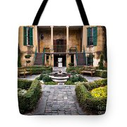 Villa Courtyard Tote Bag