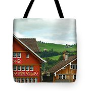 Hotel Santis And Hillside Of Appenzell Switzerland Tote Bag