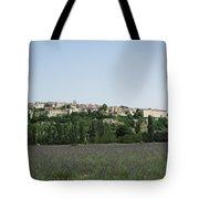 Village Beyond The Lavender Field Tote Bag