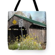 Village Bridge Waterville Vermont Tote Bag