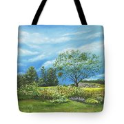 Village Garden Tote Bag