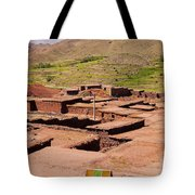 Village In Atlas Mountains In Morocco Tote Bag