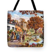 Village In Autumn Tote Bag