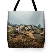 Village In Sikkim Tote Bag