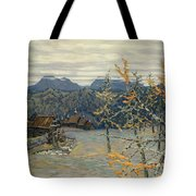 Village In The Ural Mountains Tote Bag