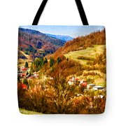 Village In The Valley Tote Bag