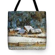 Village In Winter Tote Bag
