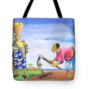 Village Life In Cameroon 01 Tote Bag
