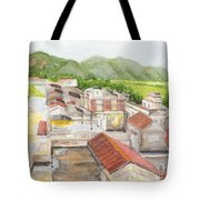 Village Tote Bag by Lilibeth Andre