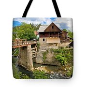 Village Of Rastoke River Canyon Tote Bag