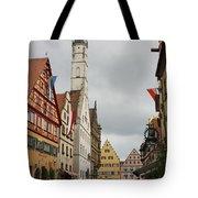 Village Scene Rothenburg Ob Der Tauber Tote Bag