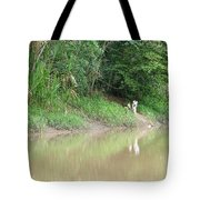 Villagers Waiting Tote Bag