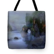 Villages By The Foggy Sea II Tote Bag
