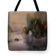 Villages By The Foggy Sea   Tote Bag