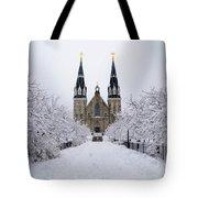 Villanova University In The Snow Tote Bag