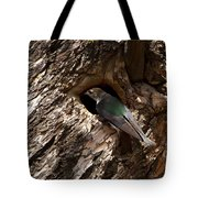 Viloet Winged Swallow-signed-#9682 Tote Bag