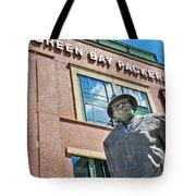 Vince Lombardi Statue Lambeau Field Tote Bag