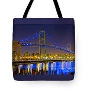 Vincent Thomas Bridge - Nightside Tote Bag