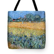 Field With Flowers Near Arles Tote Bag