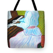 Vincent Van Gogh's Marguerite Gachet Playing At The Piano Tote Bag