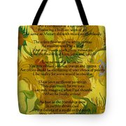 Vincent's Sunflower Song Tote Bag