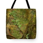 Vine On Tree Bark Tote Bag