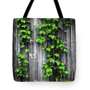 Vines On The Side Of A Barn Tote Bag