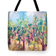 Vineyard In The Afternoon Sun Tote Bag