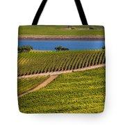 Vineyard On A Lake Tote Bag