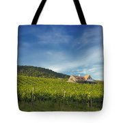 Vineyard On Sunny Hill Tote Bag