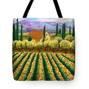 Vineyard With Olives Tuscany Tote Bag