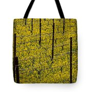 Vineyards Full Of Mustard Grass Tote Bag