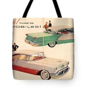 Vintage 1956 Oldsmobile Car Advert Tote Bag