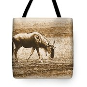 Vintage African Safari Wildbeest Tote Bag