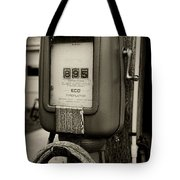 Vintage Air Station In Black And White Tote Bag