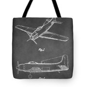 Vintage Airplane Patent Tote Bag
