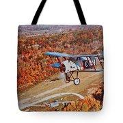 Vintage Airplane Postcard Art Prints Tote Bag