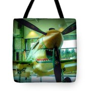 Vintage Airplane Three Tote Bag