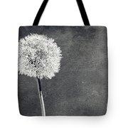 Vintage Allium Flower Tote Bag