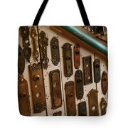 Vintage And Antique Door Knob And Lock Plates Tote Bag