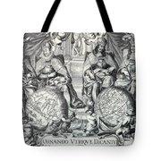 Vintage Antique Map Ornando Vtriqve Dicantvr Tote Bag