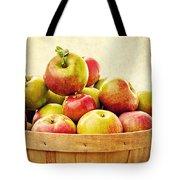 Vintage Apple Basket Tote Bag