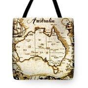 Vintage Australia Map Tote Bag