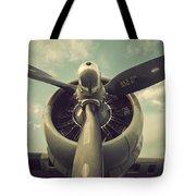 Vintage B-17 Flying Fortress Propeller Tote Bag
