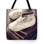 Vintage Baby Boots And Books Tote Bag