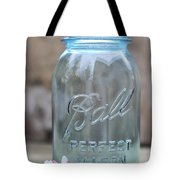 Vintage Ball Mason Blue Tote Bag
